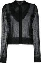 Theory sheer zipper cardigan