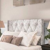 Basco Button Tufted Upholstered Panel Headboard Darby Home Co Size: King