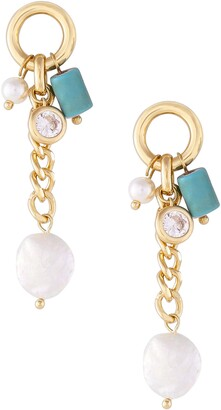Ettika Turquoise & Freshwater Pearl Earrings