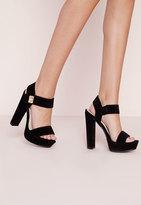 Missguided 70's Platform Sandal Black