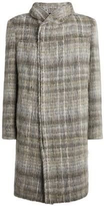 Stephan Schneider Hooded Check Overcoat