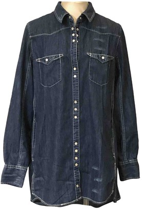Free People Blue Denim - Jeans Top for Women