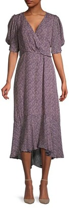 Parker Calinda Pebble Dot-Print High-Low Dress