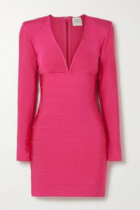 Herve Leger Bandage Mini Dress - Pink