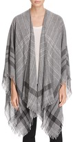 Eileen Fisher Plaid Fringe Wrap - 100% Bloomingdale's Exclusive