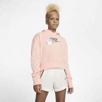 Nike Big Kids' (Girls') Cropped Hoodie Sportswear