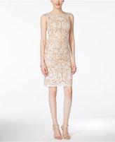 Adrianna Papell Sleeveless Embroidered Sheath Dress