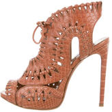 Alaia Python Lace-Up Sandals w/ Tags