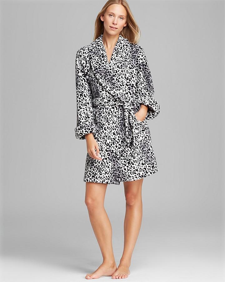 Josie Animal Print Plush Robe
