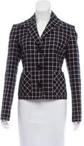 Michael Kors Windowpane Button-Up Jacket