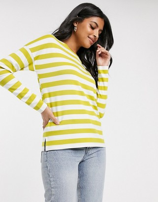 B.young b. Young stripe long sleeve top