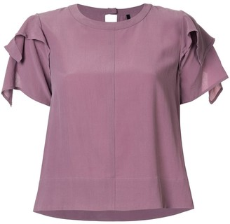 Taylor Adorn ruffled sleeve top