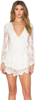 Toby Heart Ginger Lace Billow Front Playsuit