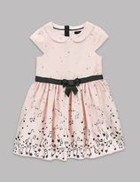 Marks and Spencer Pure Cotton Music Note Print Dress (1-7 Years)