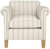 John Lewis Camford Accent Chair, Light Leg, Brampton Pinstripe Steel