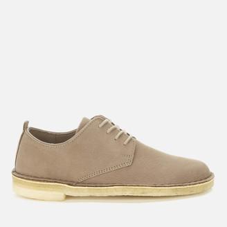 Clarks Women's Desert London Suede Derby Shoes - Mushroom