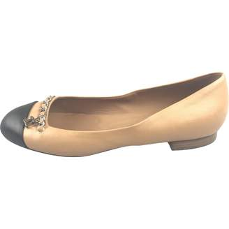 Chanel Brown Leather Flats