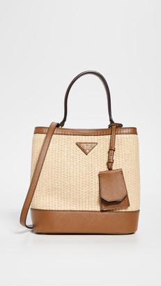Shopbop Archive Prada Panier Raffia Bucket Bag
