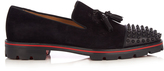 Christian Louboutin Rossini spike-embellished suede loafers
