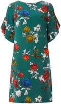 Dorothy Perkins **Tall Green Floral Rose Shift Dress