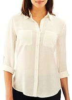 JCPenney a.n.a Long-Sleeve 2-Pocket Shirt