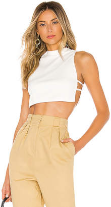 superdown Christina Flowy Crop Top
