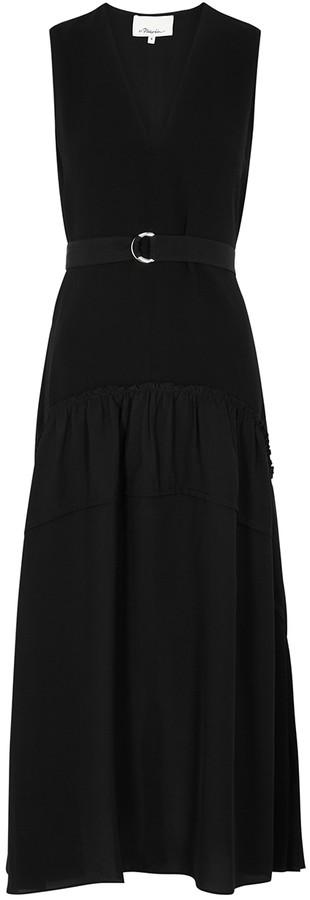 3.1 Phillip Lim Black belted midi dress