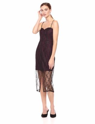 BCBGeneration Women's Trimmed CAMI Slip MIDI Dress
