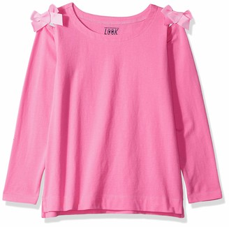 Look by crewcuts Amazon/J. Crew Brand Girls' 3/4 Sleeve Bow Shoulder top