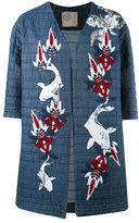 Antonio Marras collarless shortsleeved jacket - women - Cotton/Polyamide/Spandex/Elastane/Sequin - 42