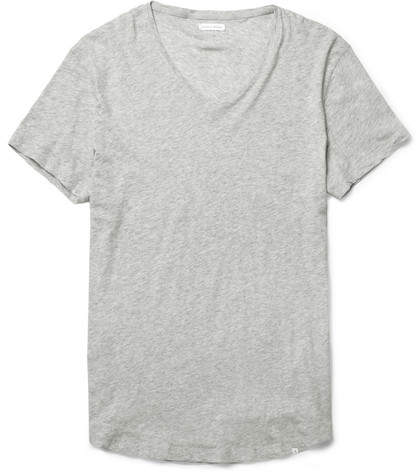 Orlebar Brown Ob-v Slim-fit Cotton-jersey T-shirt - Gray
