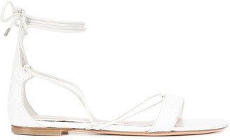 Alexander McQueen ankle strap flat sandals