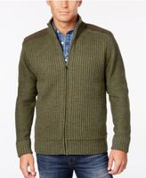 Weatherproof Men's Big and Tall Ribbed Zipper Cardigan, Classic Fit