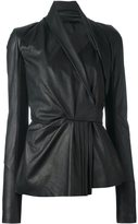 Rick Owens 'Limo' biker jacket - women - Cotton/Calf Leather/Cupro/Virgin Wool - 42