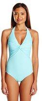 Melissa Odabash Women's Geneva Twist Halter-Neck One-Piece Swimsuit