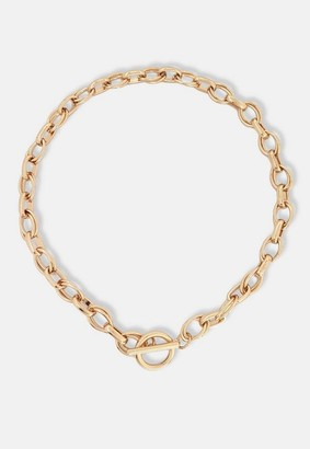 Missguided Gold Look Chunky T Bar Chain Necklace