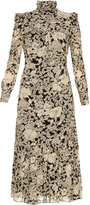 Saint Laurent Prairie floral-print ruffle-trimmed crepe dress