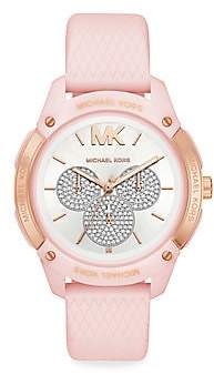 Michael Kors Women's Ryder Pavé Silicone-Strap Multifunction Watch