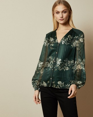 Ted Baker EVELIIN Meadow Sweep long sleeved blouse
