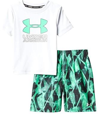 Under Armour Kids Exo Blur Volley Set (Toddler) (Halo Gray) Boy's Swimwear Sets