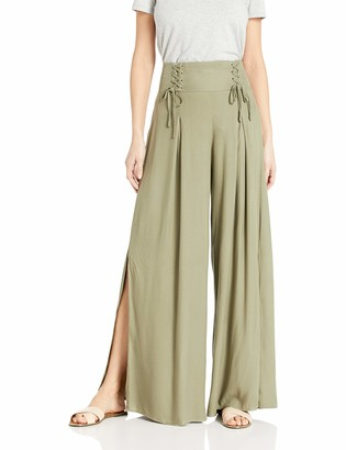 Jack by BB Dakota Junior's fit to be Tied Rayon Twill lace up Wide Leg Pant
