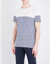 Orlebar Brown Sammy Stripe-panel Cotton-blend T-shirt