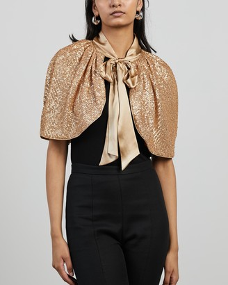 Sass & Bide Women's Gold Capes - Magic Moment Cape - Size M at The Iconic