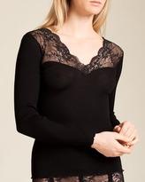 Dana Pisarra Milano Wool/Silk Long Sleeve Top