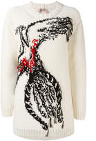 No.21 bird intarsia jumper