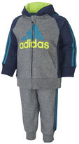 adidas Baby Boys Two-Piece Hooded Tee and Pants Set