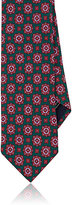 Barneys New York MEN'S MEDALLION-PATTERN SILK NECKTIE-BURGUNDY
