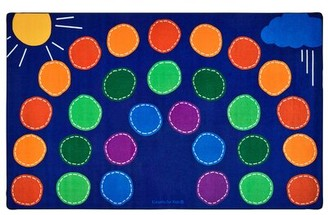 """Carpets for Kids Premium Collection Rainbow Seating Area Rug Rug Size: 7'6"""" x 12'"""