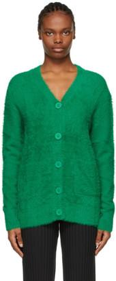 Simon Miller Green Fuzzy Bix Cardigan