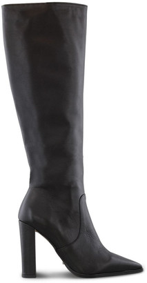 Tony Bianco Lucille Black Como Calf Boot